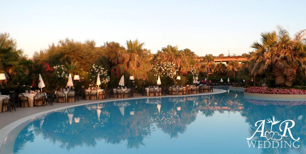 hotel cefalu - acacia resort - matrimonio a bordo piscina
